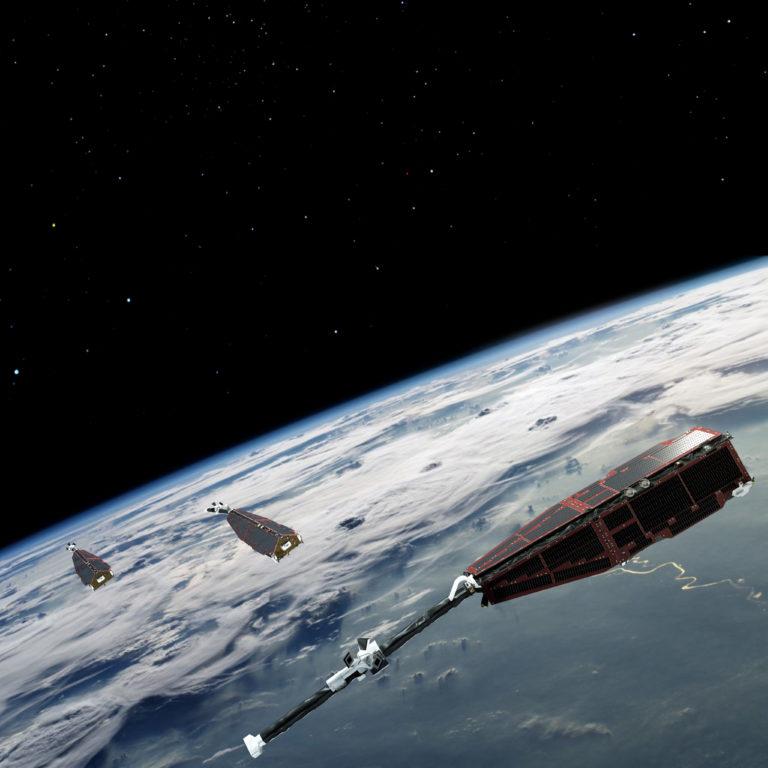 SWARM Satellites. Credit: ESA